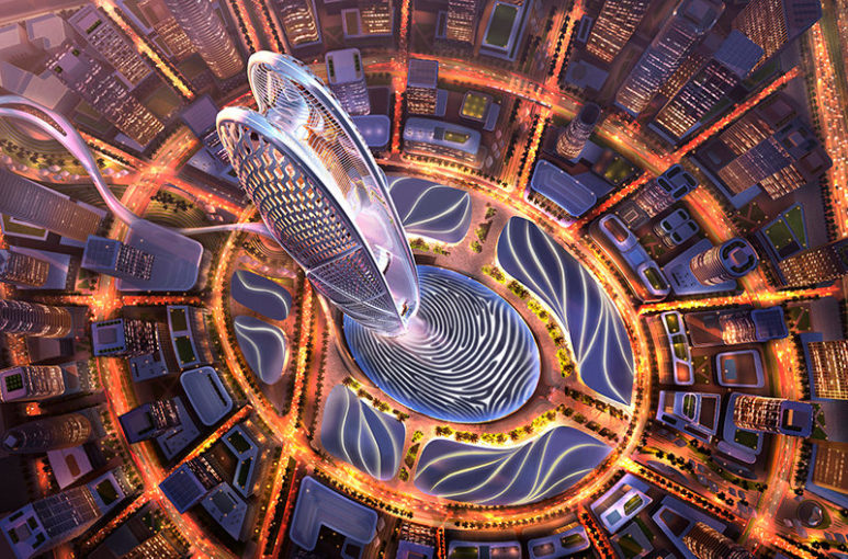 A new skyscraper in Dubai will have the shape of a fingerprint of Sheikh