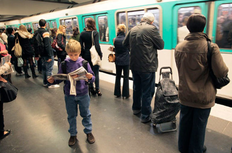 From September, children will be able to use public transport in Paris for free