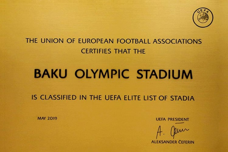 UEFA has included the Olympic Stadium in the list of