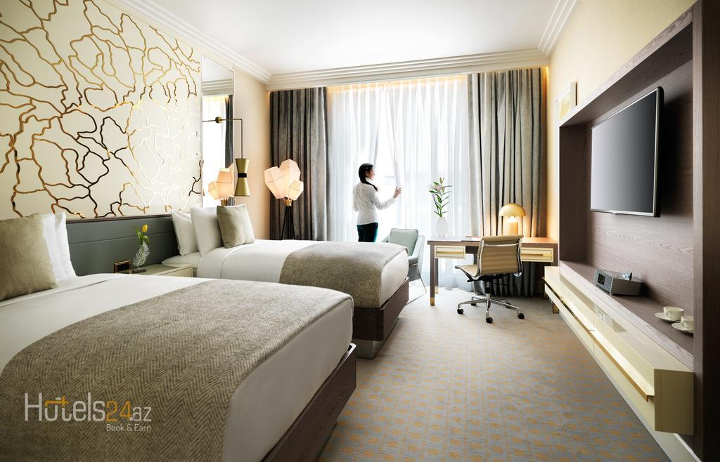 Гостиница Бульвар Баку - Улучшенный двухместный номер с 2 отдельными кроватями и видом на море