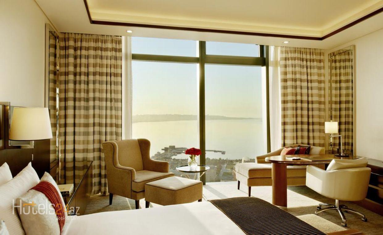 Двухместный номер с 2 отдельными кроватями и видом на Каспийское море