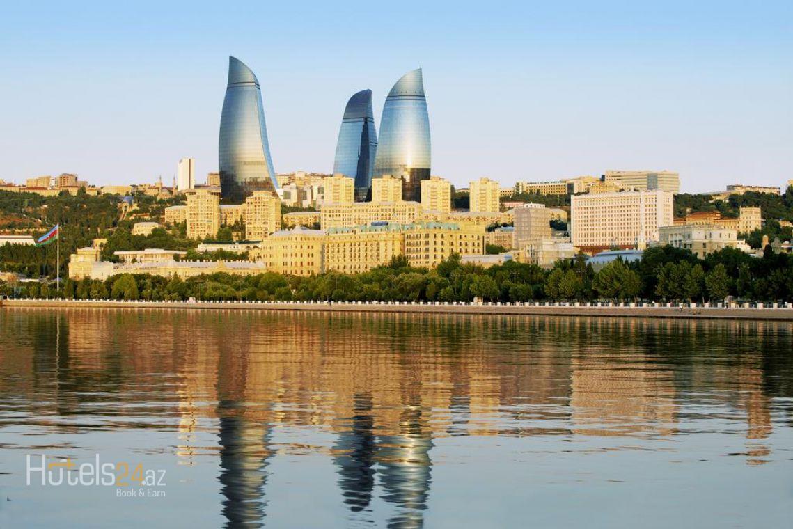 Номер Fairmont Gold с видом на Каспийское море