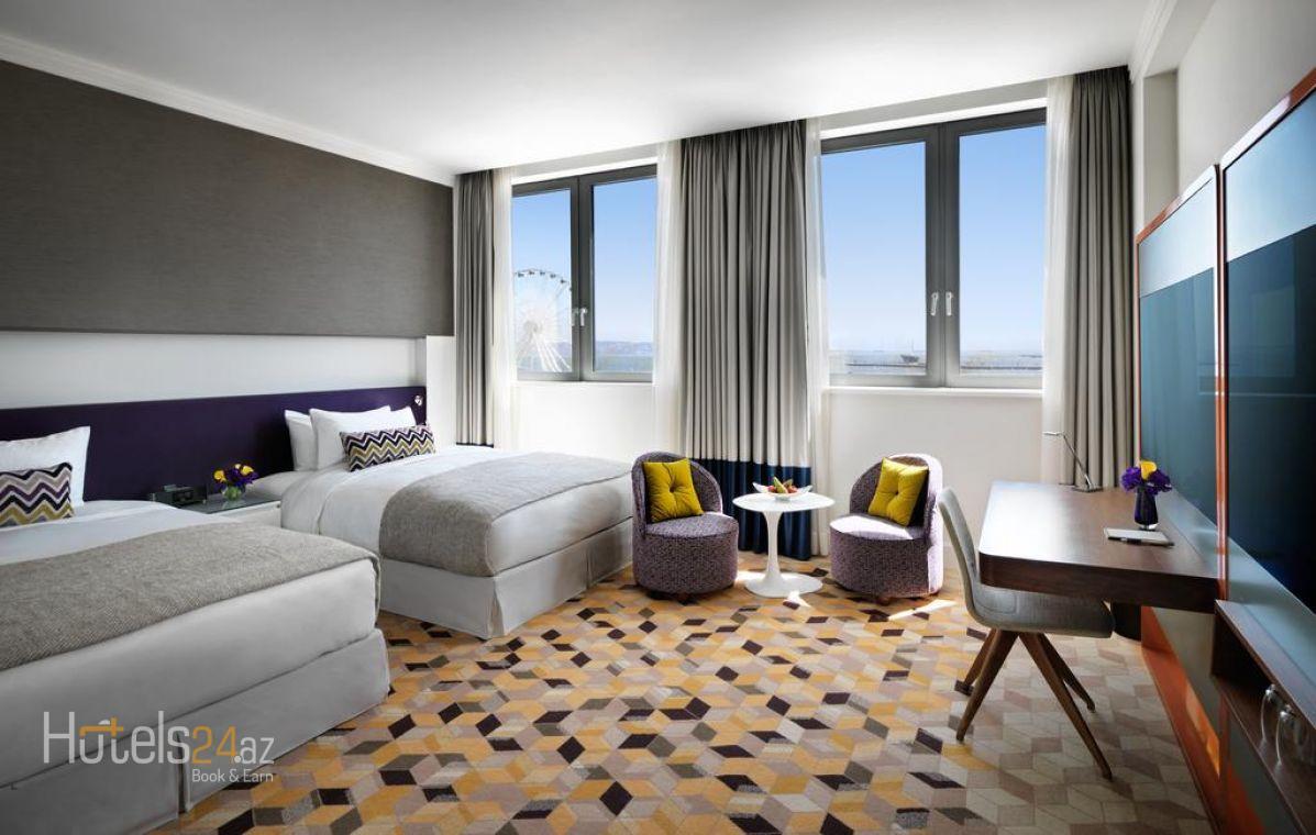 Двухместный номер с 2 отдельными кроватями и видом на город